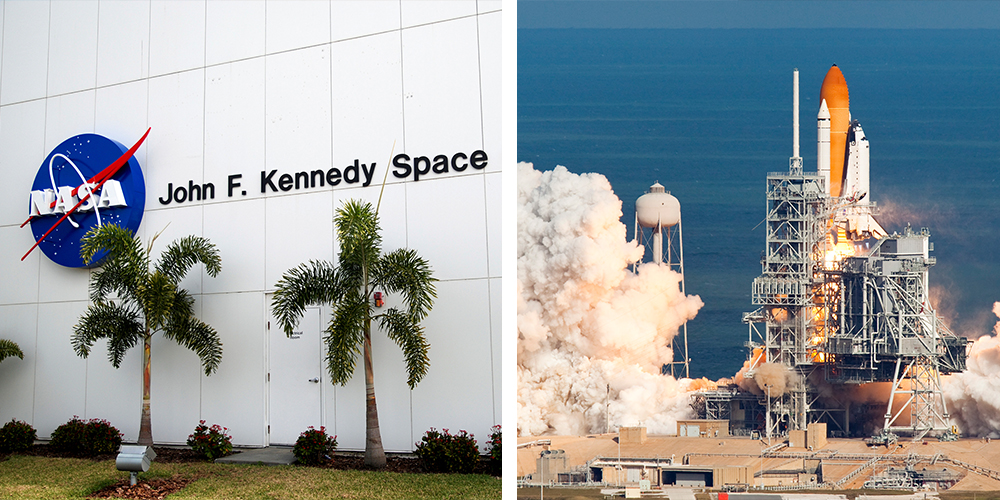 John F. Kennedy Space Center + SpaceX Rocket Launch