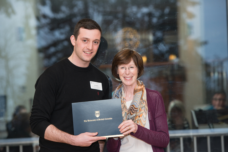 Luke Spooner with Dr. Louise Nasmith